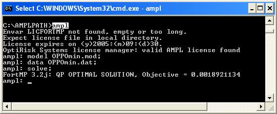Linear Programming Model Using AMPL Shell