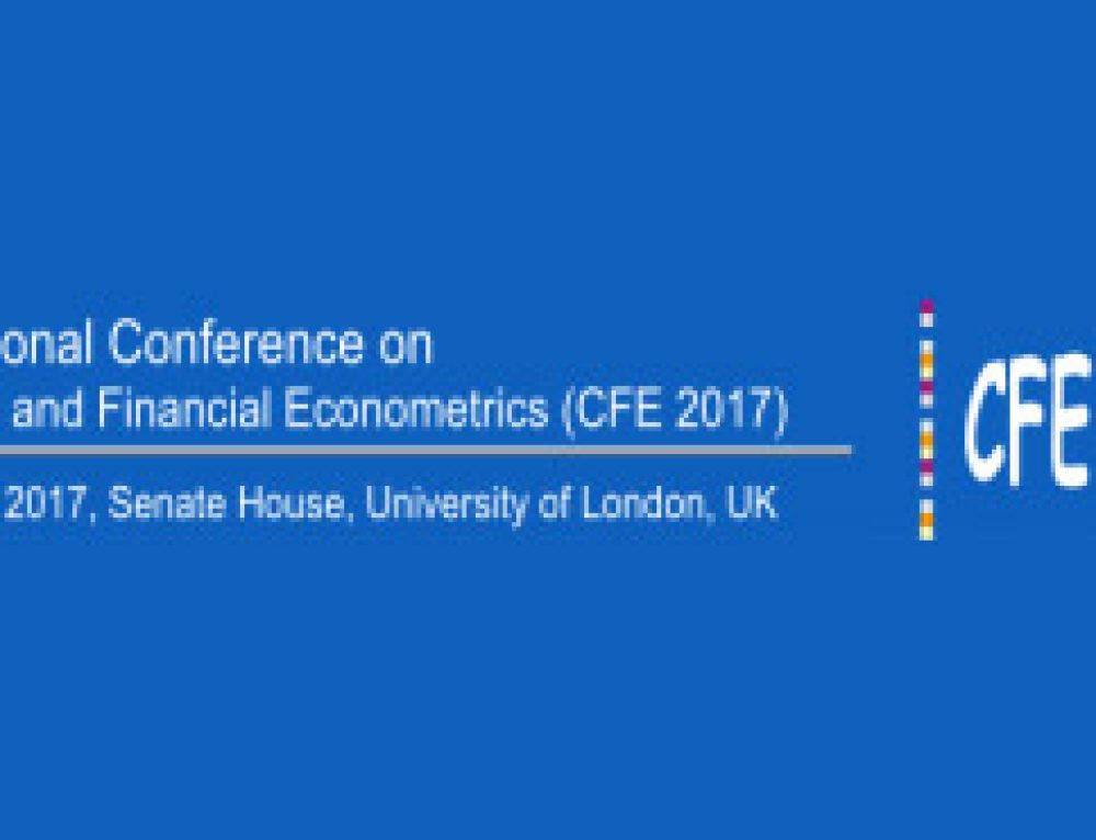 11th International Conference on Computational and Financial Econometrics (CFE 2017), University of London, 16-18 December 2017