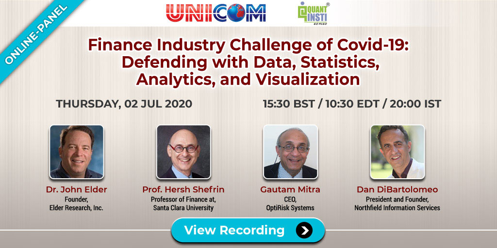 Finance Industry Challenge of COVID-19: Defending with Data, Statistics, Analytics, and Visualization