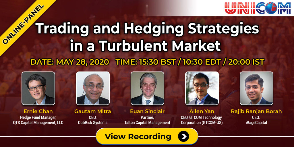 Trading and Hedging Strategies in a Turbulent Market